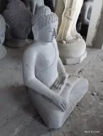 Patung Budha Bhumisparsa Mudra Batu Candi Gunung Merapi