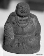 Miniatur Patung Dewa Rejeki Chai Sen Ye Cetakan Batu MN11