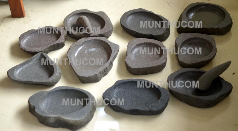 Berbagai Bentuk Cobek Batu Kali Bentuk Natural Alami Yang Asli Sebenarnya