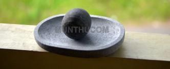 Cobek Lado: Cobek dan Ulekan khas Padang / Minang / Sumatera buat bikin Sambal Lado