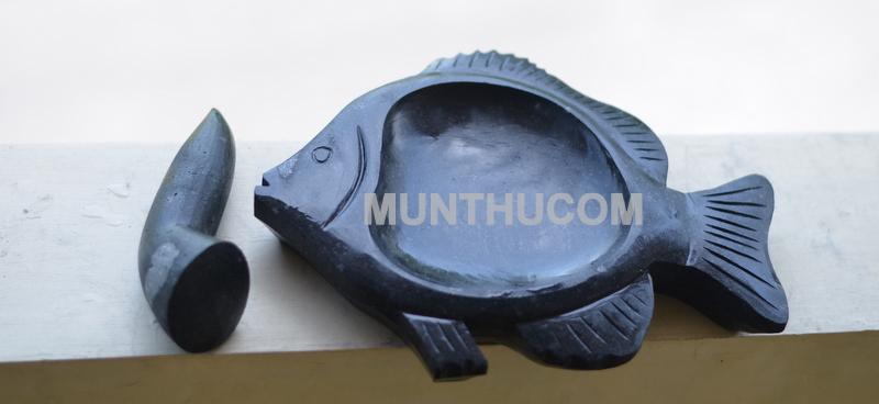 Cobek Ikan Batu Kali Super Halus Warna Hitam / Item